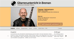 Preview of gitarrenunterricht-in-bremen.net